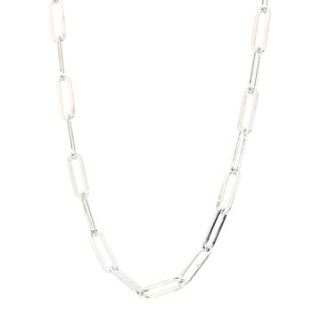 "Paper Clip Necklace 24"" 3.3mm Wide"