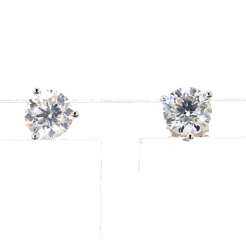 1 1/2ct Diamond Martini Style Stud Earrings