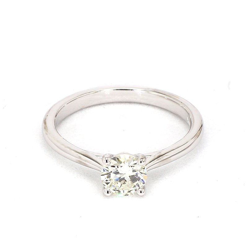 Petite Style Engagement Ring .66cts 14 Karat White