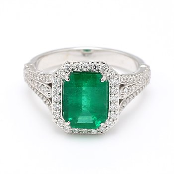 2.35 Carat Columbian Emerald Ring