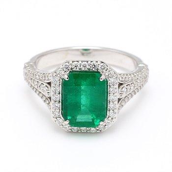 2.35 Carat Columbian Emerald Ring
