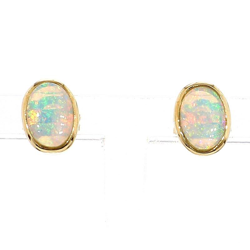 3/4ct Opal Stud Earrings