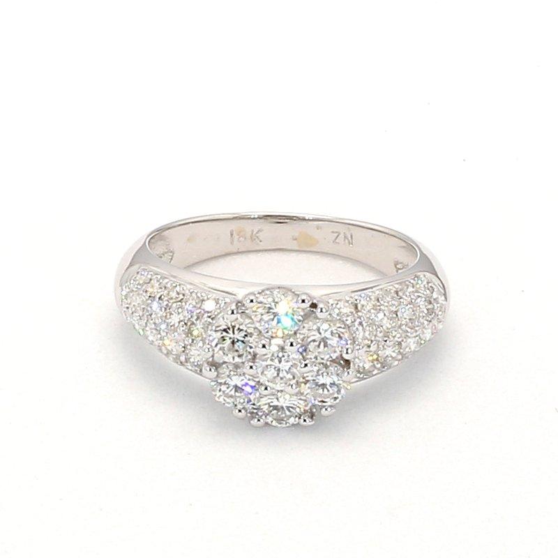 1 1/2ct Diamond Pavé Ring