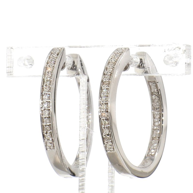 Round Shaped Inside Out Diamond Earrings