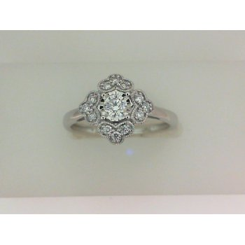 .24 Vintage Style Engagement Ring