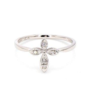 .03CT Diamond Cross Ring