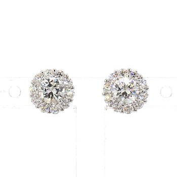 1/2ct Diamond Halo Earrings