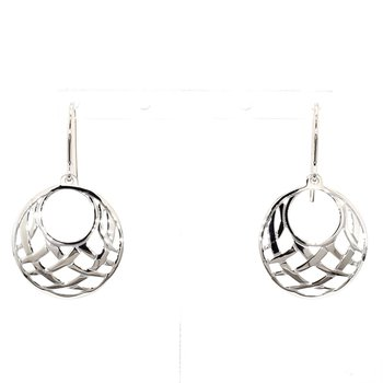 Sterling Silver Small Gypsy Basketweave Earrings