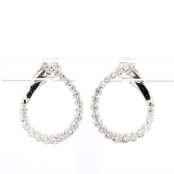 1/2ct Diamond Swirl Earrings