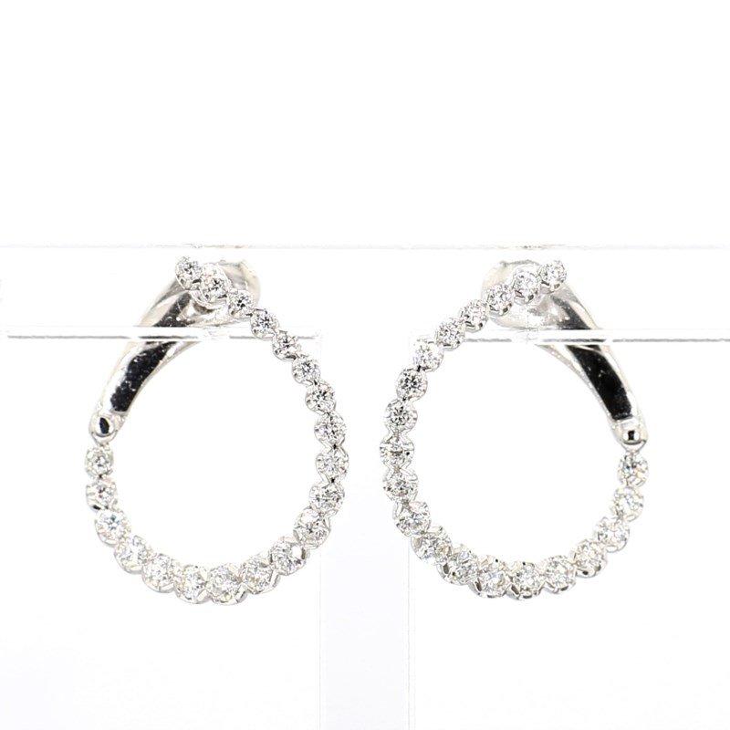 1/2ct Diamond Swirl Earrings