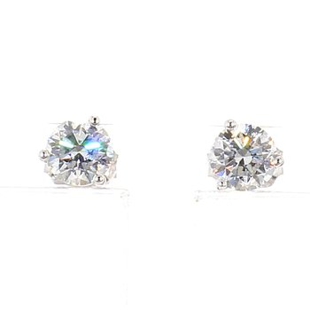 3/4 Carat Diamond Stud Earrings