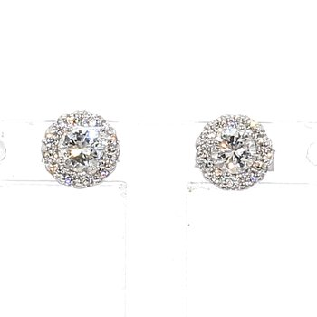 1/2ct. Diamond Halo Earrings