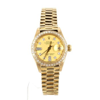 Ladies 18K 26mm Presidential Diamond Dial & Bezel
