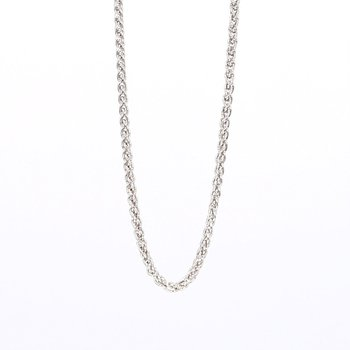 """Sterling Silver 1.05MM Rnd Wheat Chain 20"""""""