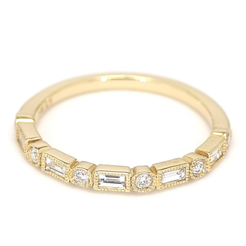 .28 Carat Diamond Wedding And Anniversary 14 Karat Yellow Gold Ring