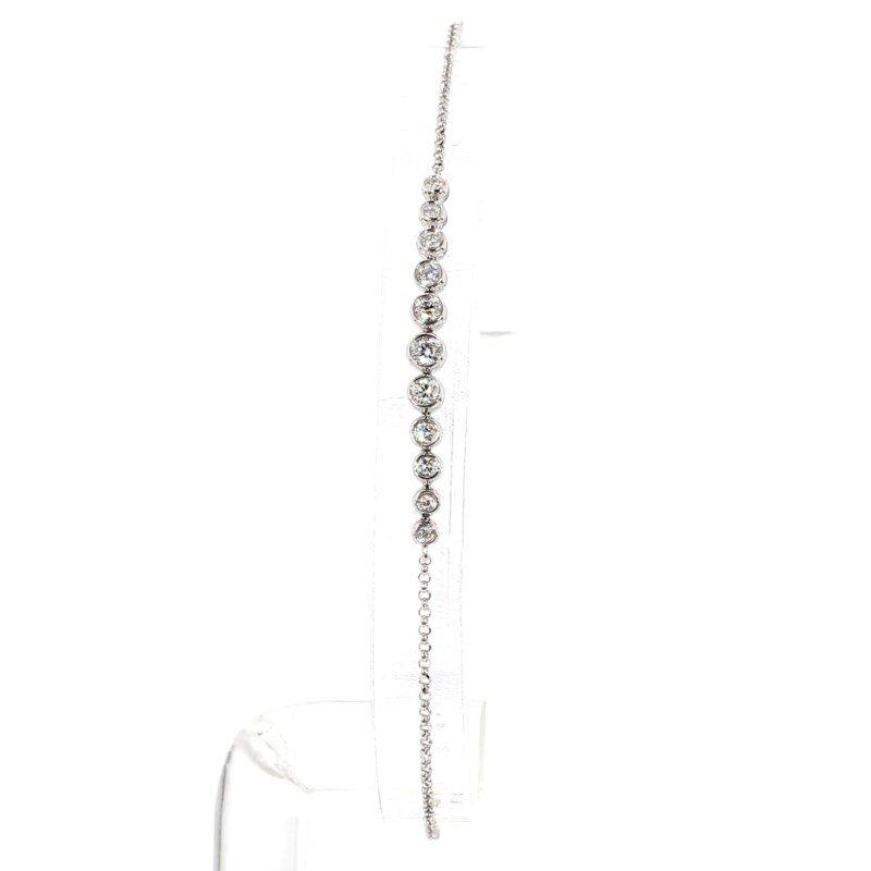 .32 Carat Diamond Bezel Bracelet