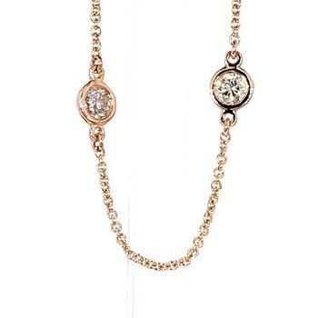 1.00ct Diamond Station Necklace