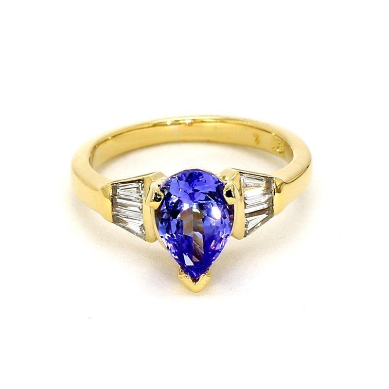 1 1/3CT Tanzanite & Diamond Ring