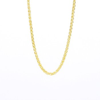 14 Karat Yellow Gold Wheat Chain 18""