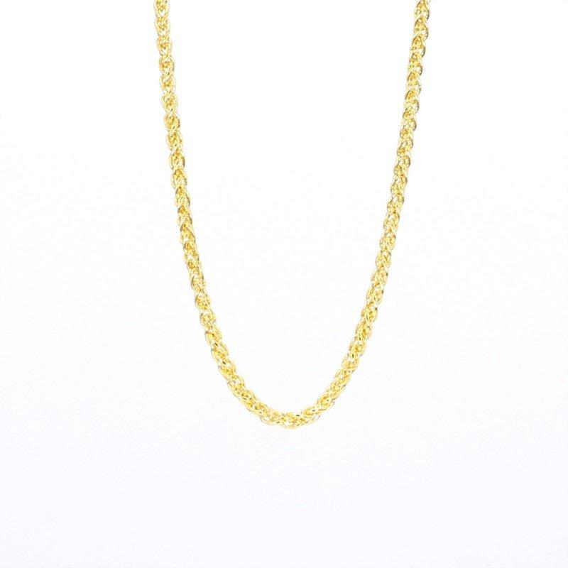 "14 Karat Yellow Gold Wheat Chain 18"""