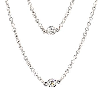 "1ct 30"" Diamond Station Necklace"