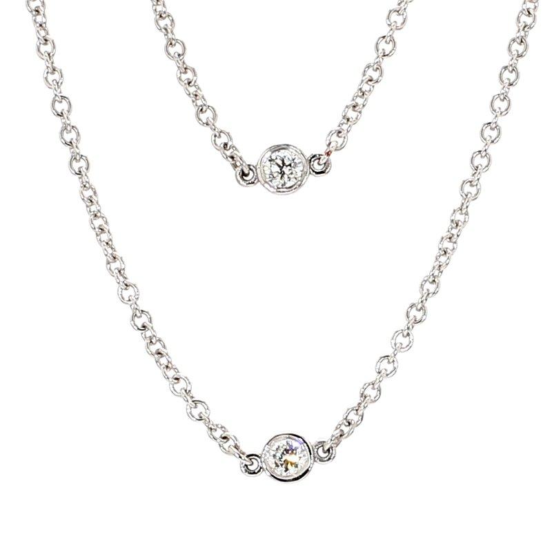 "1ct 30"" Diamond Station Necklace"