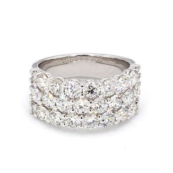 3ct Multi Row Anniversary Diamond Ring
