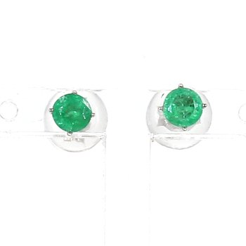 .46 Carat Emerald Earrings