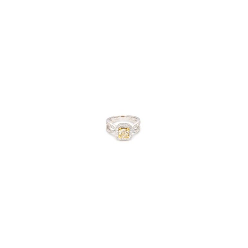 1.76 Carat Yellow Diamond Engagement Ring