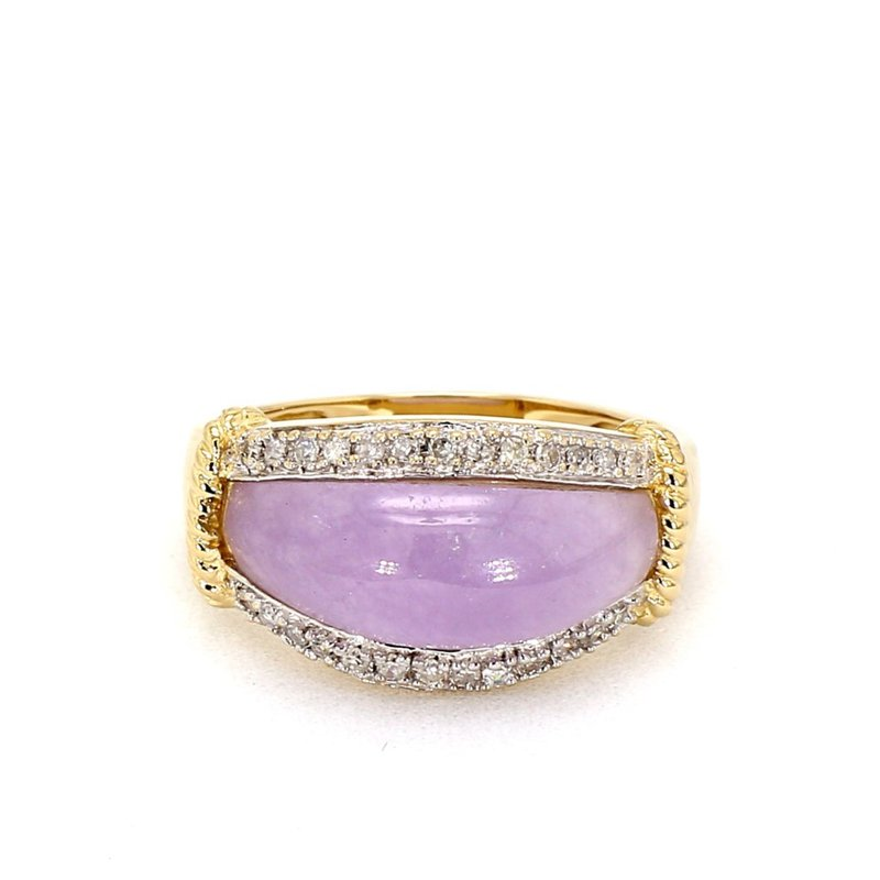 .26ct Diamond & Lavender Jade Ring