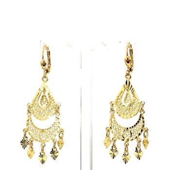 14KT Yellow Gold Chandelier Drop Earrings