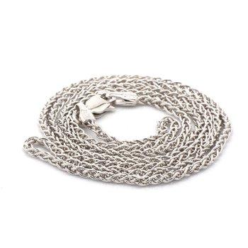 """18"""" 1.65mm Silver Wheat Chain"""