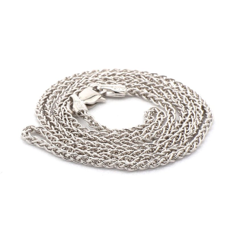 "18"" 1.65mm Silver Wheat Chain"