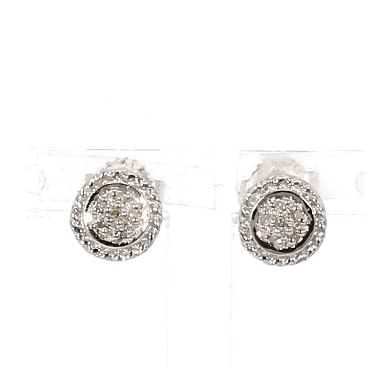 .05ct Diamond Halo Earrings