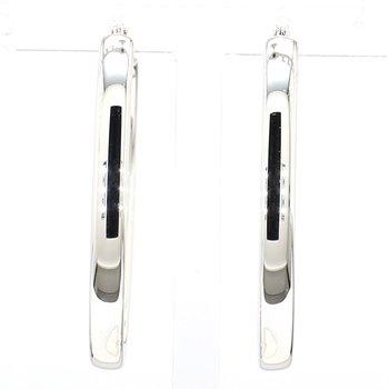 34mm x 4mm Oval Hoop Earrings