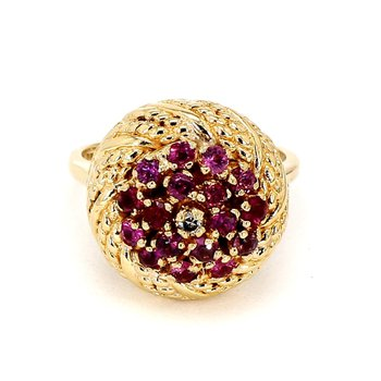 1 1/4ct Ruby And Diamond Ring