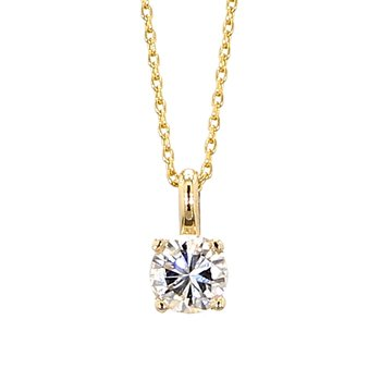 "1/3ct Solitaire Diamond Pendant 18"""