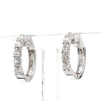 "1/2ct Diamond Huggie Earrings ""Dime Sized"""