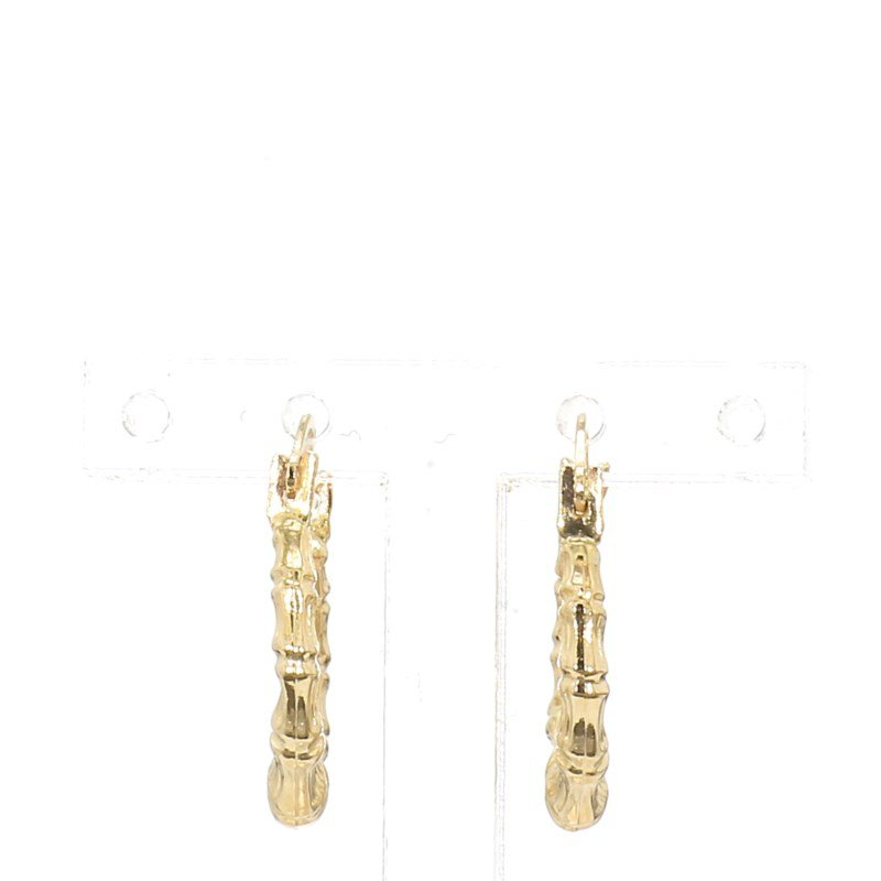 14 Karat Yellow Gold Hoop Earrings