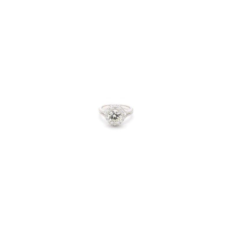 2 Carat Diamond Halo Ring