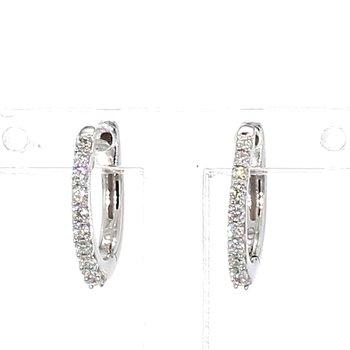1/6 Ct. Diamond Huggie Earrings 1.4mm X 12mm