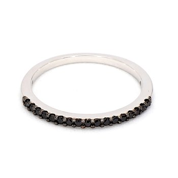 Black Diamond Stacking Ring