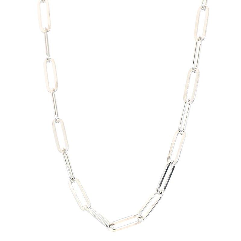 "Paper Clip Necklace 16-18"" 3.3mm Wide"