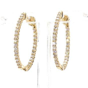 1.0ct Diamond Inside Out Hoop Earrings