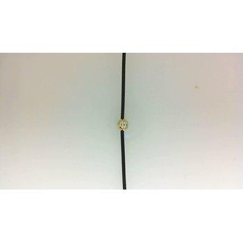 .06ct Diamond Bezel Cord Bracelet