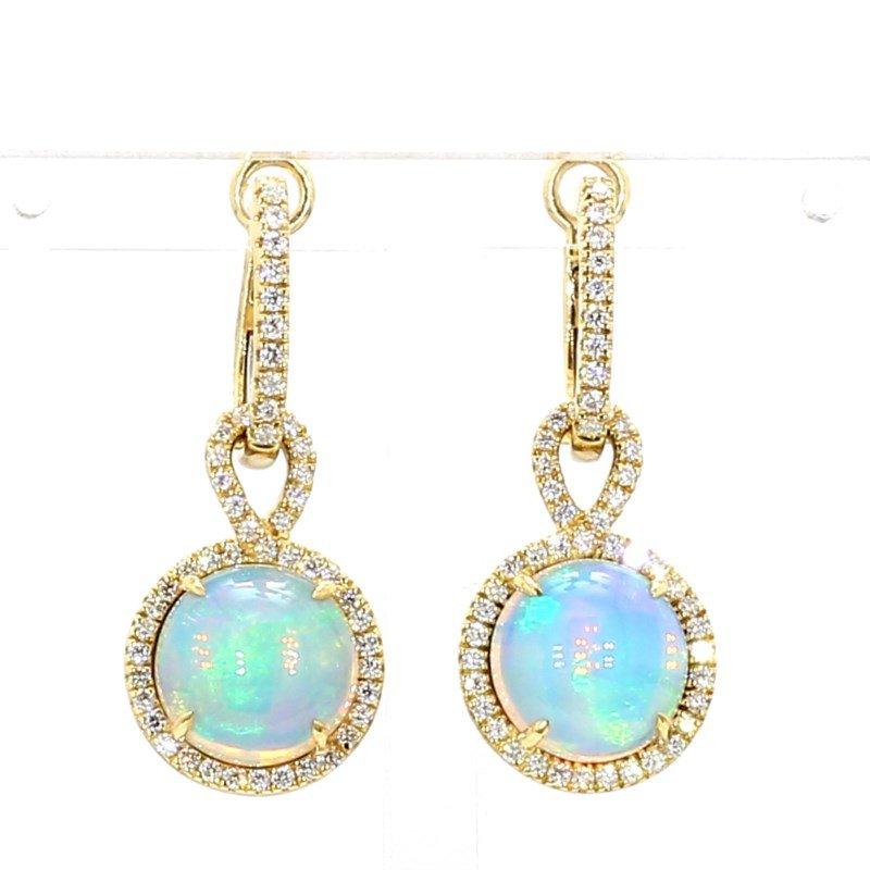 5.56ct Opal And Diamond Earrings