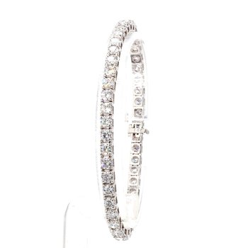 "7 Carat Diamond Tennis Bracelet 7"" x 4mm"