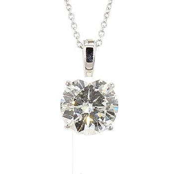 3ct Laboratory Grown Diamond Solitaire Pendant 18""