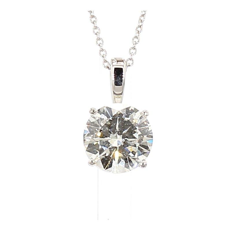 "3ct Laboratory Grown Diamond Solitaire Pendant 18"""