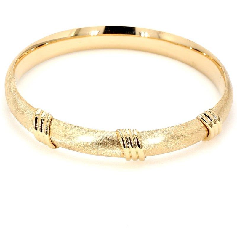 14KY Bangle Bracelet With Locking Clasp
